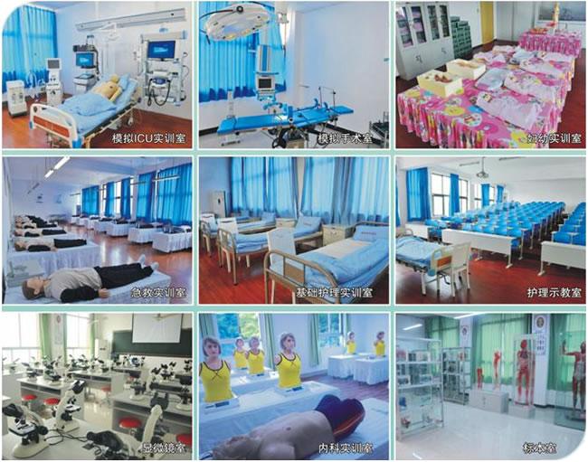 重庆知行卫生学校一流的实训设备