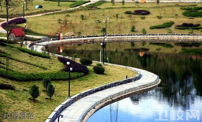 咸阳市卫生学校校园景色