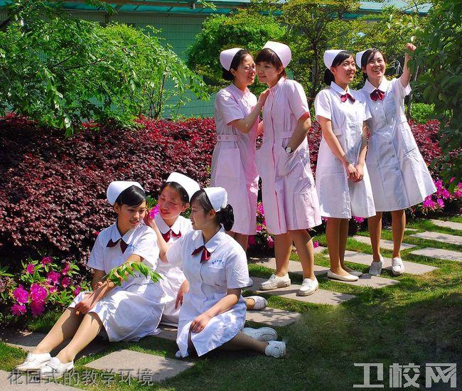 咸阳卫生职业学校花园式的教学环境