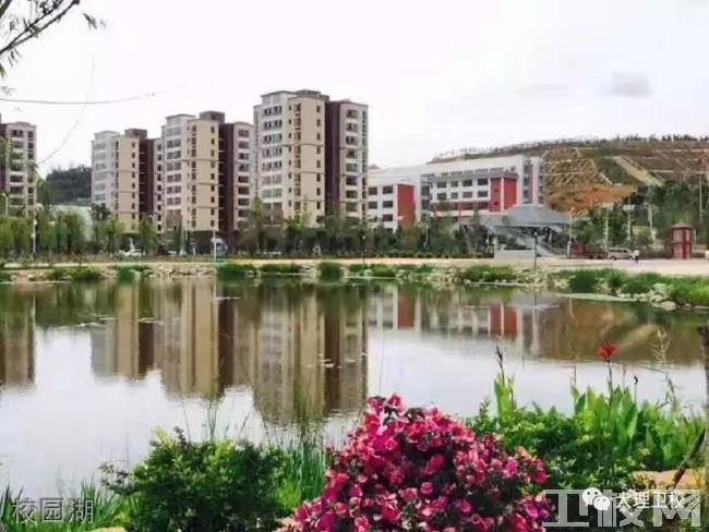 大理卫生学校校园湖
